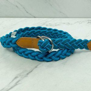 Gap Blue Skinny Braided Woven D Ring Belt Small